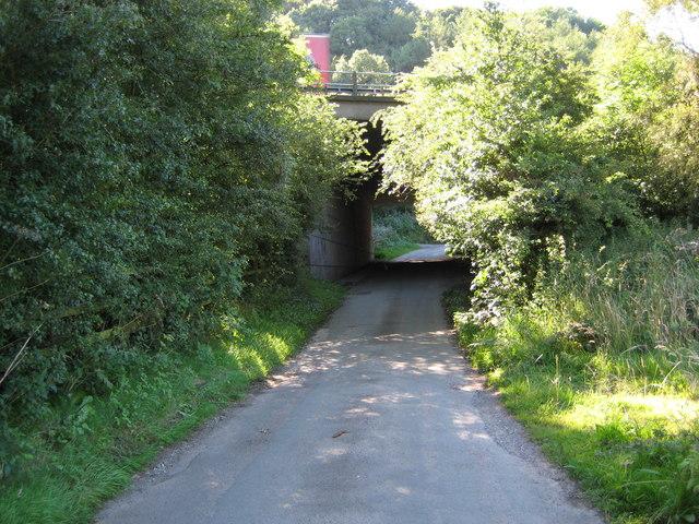 Beech Lane goes under M6 at Beechcliff