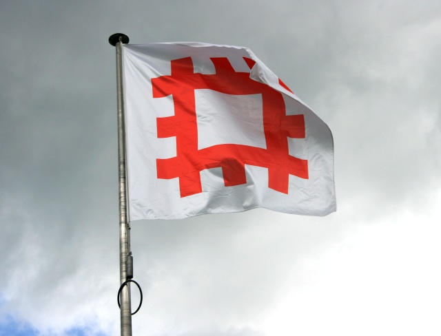 English Heritage flag, Stokesay Castle