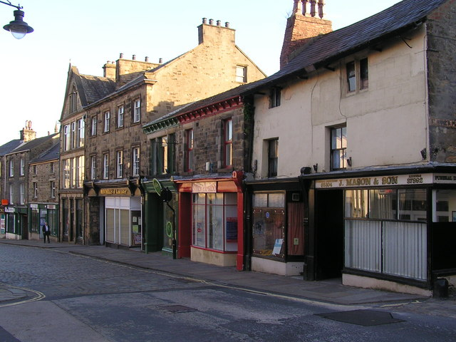 Lancaster Moor lane buildings below Dukes Theatre