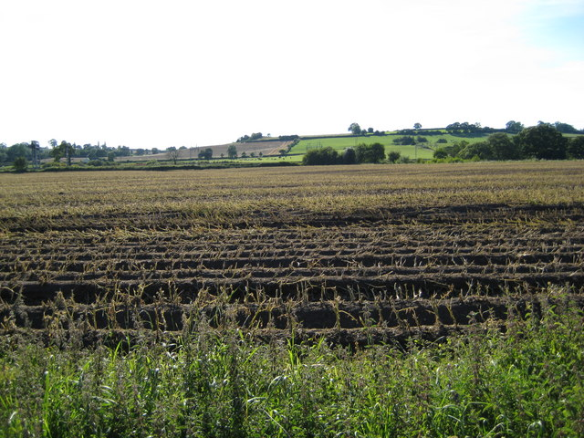 Ploughed field near Lower Hatton