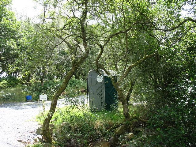 A lake side green loo