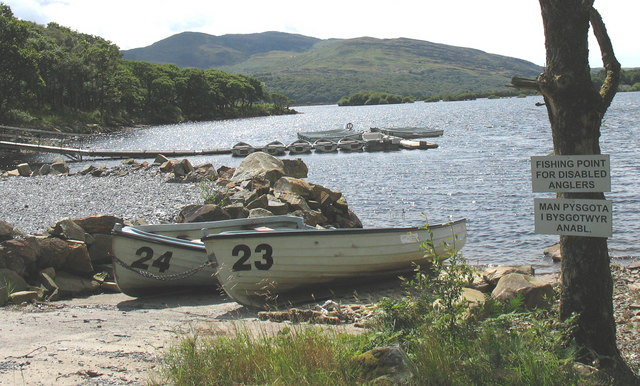 Fishing point for disabled anglers