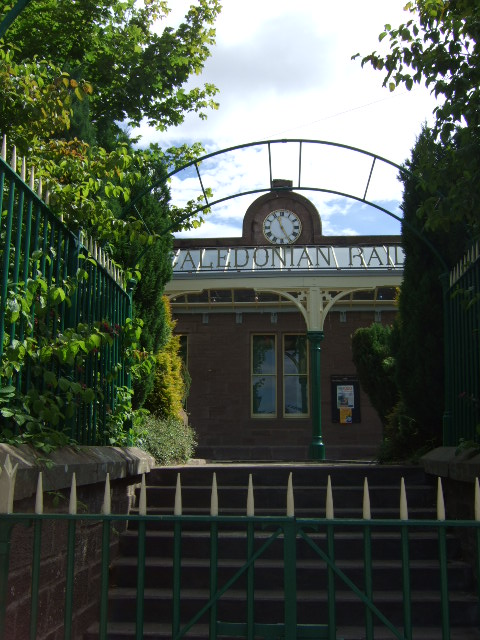 Entrance to the Railway Station in Brechin.