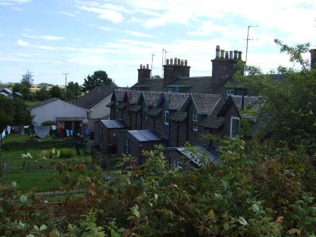 Terrace houses by Bridge of Dun station.