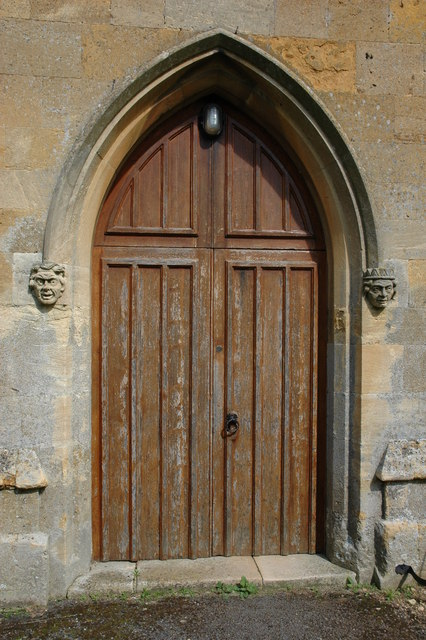 West door, Great Wolford Church