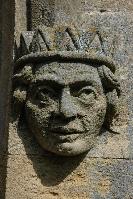 Head on Great Wolford Church