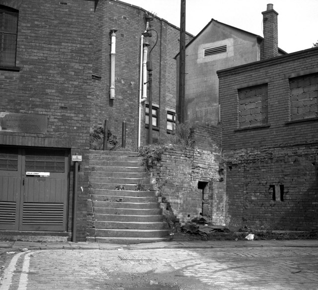 Old steps off Baillie Street, Rochdale, Lancashire