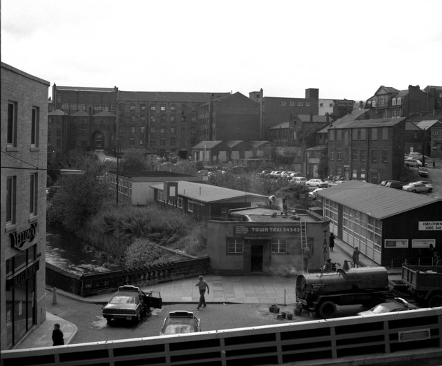 View south from Smith Street, Rochdale, Lancashire