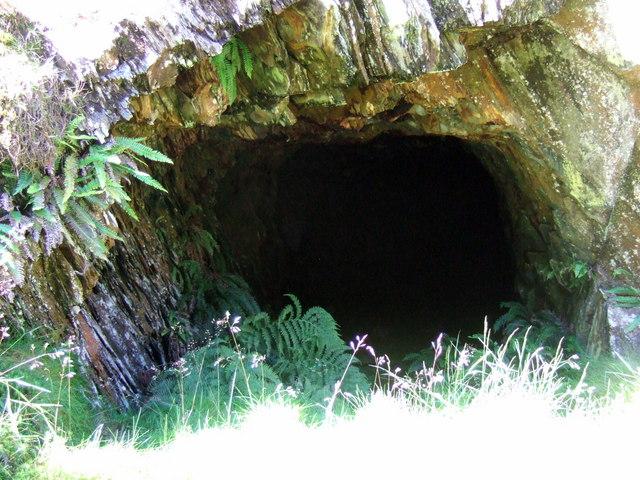 Rosebush quarry, exploring the adits: 2