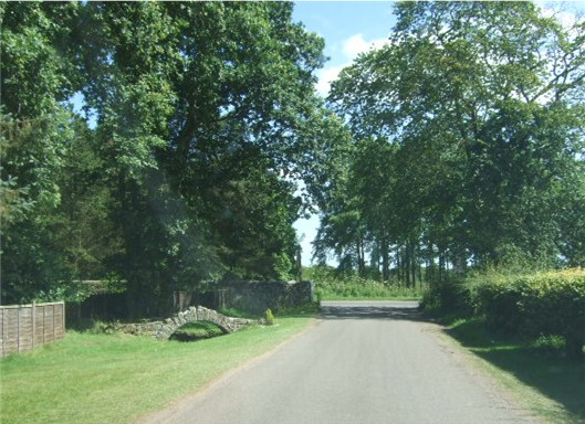 Exit from Charleton estate to A92