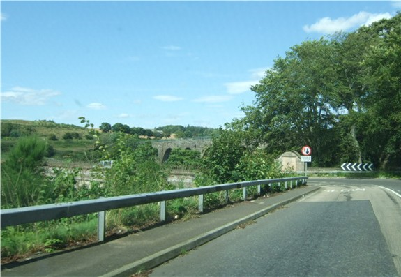 A92 approach to the bridges over the North Esk river