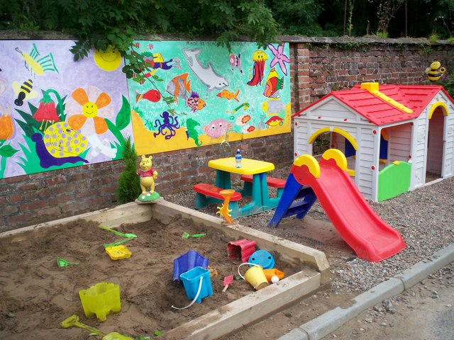 Toddlers Play Area In The Secret Garden 169 P Flannagan