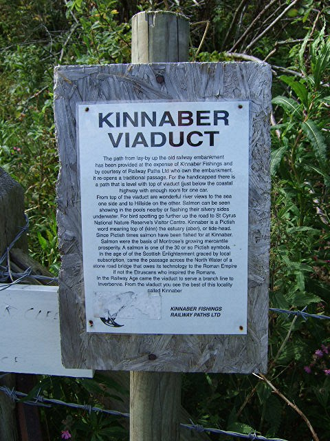 Kinnaber Viaduct notice