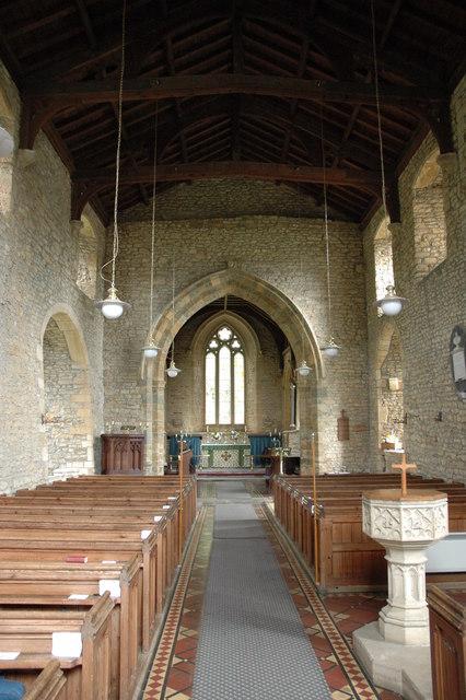 Interior of Sutton-under-Brailes Church