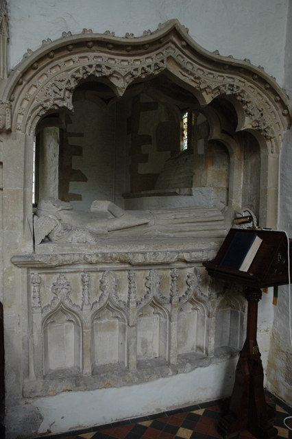 Tomb in Cherington Church