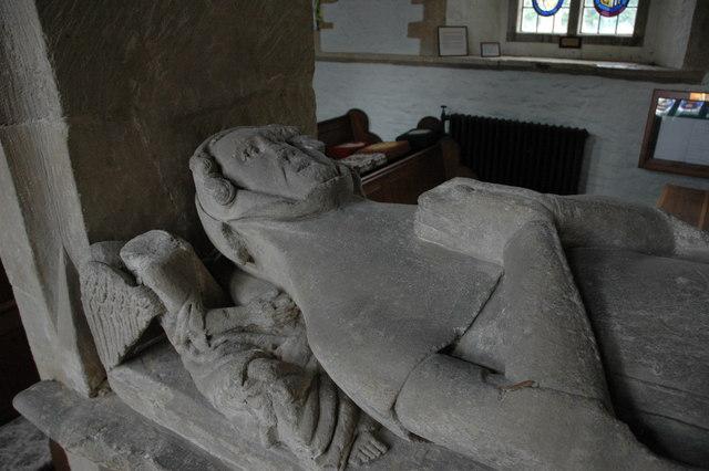 Effigy on tomb, Cherington Church