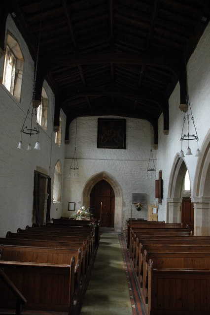 The nave of Cherington Church