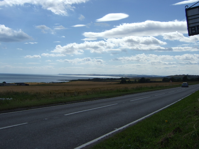 A92 heading SW to St Cyrus