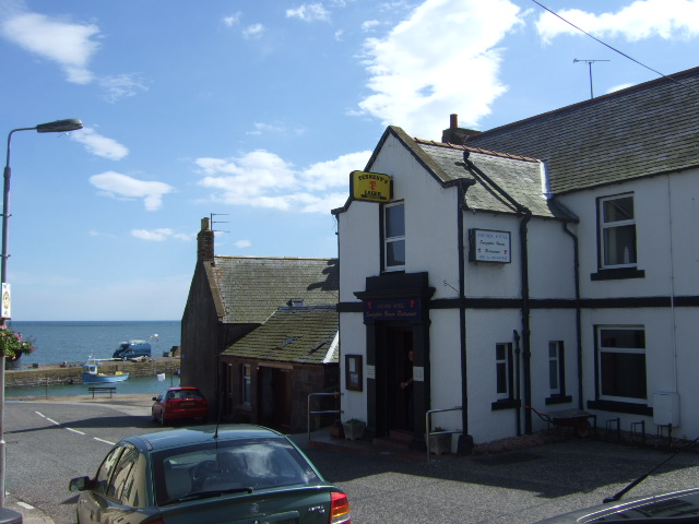 Anchor Hotel and Johnshaven harbour