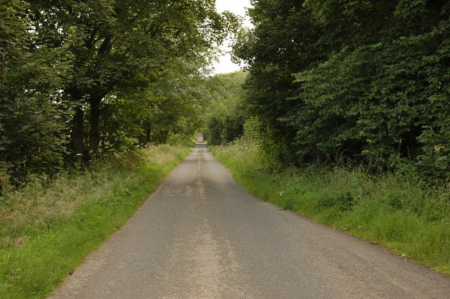 Country road near Haddo House