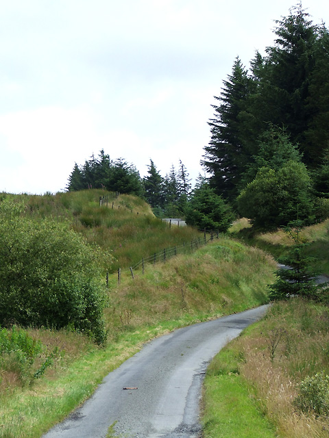Mountain Road to Ffarmers, Ceredigion