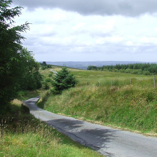 Mountain Road to Llanddewi-Brefi, Ceredigion