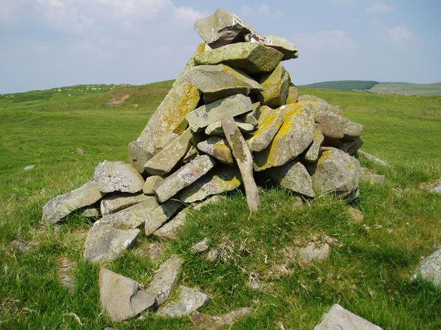 Cairn on Ardoch Hill.