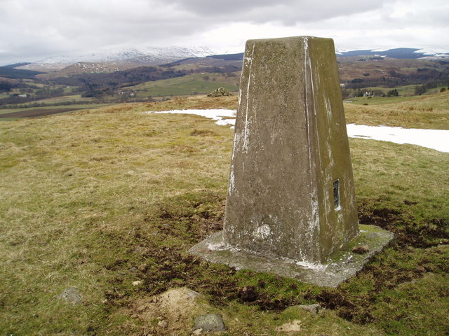Trig Point on Mulloch Hill.