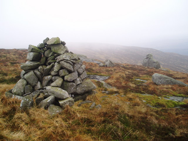 Cairns on the summit of Millfore Hill.