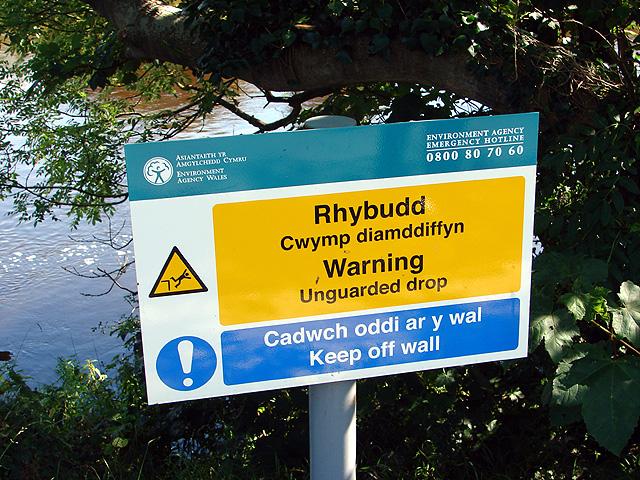 Riverside Walk Sign, Aberystwyth
