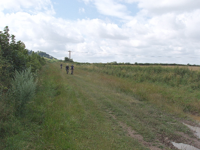 Cyclists on the Icknield Way - The Ridgeway