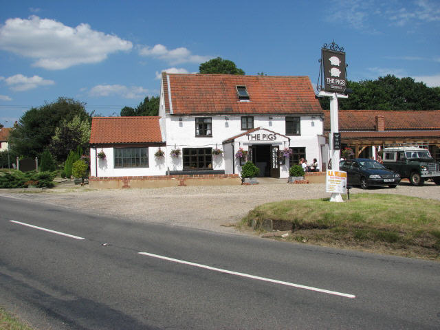 The Pigs Edgefield Evelyn Simak Geograph Britain And