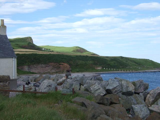 Looking across Bervie Bay towards Kinghornie