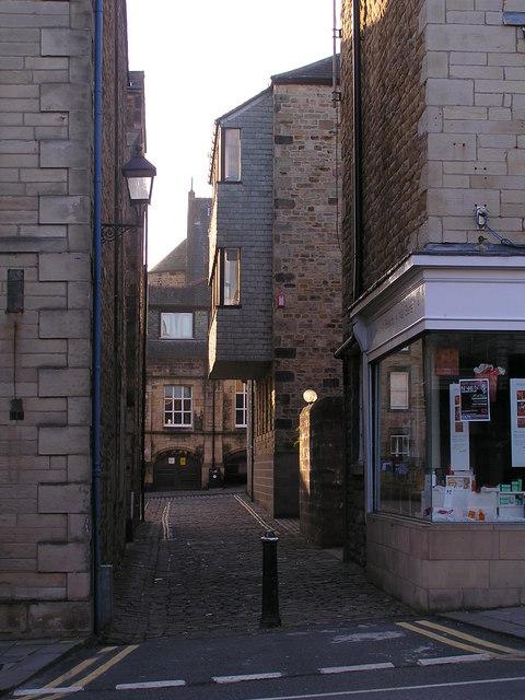 Lancaster Friar's passage off Great St John's Street