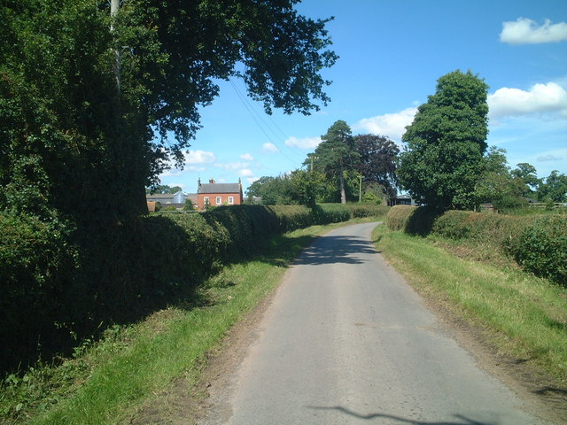 Road to Wrickton Manor Farm