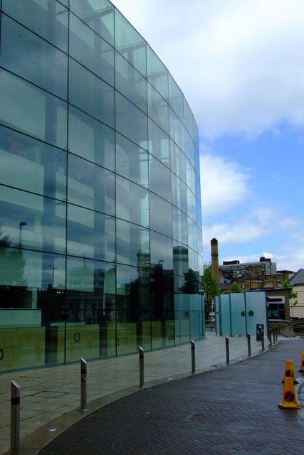 Glass wall, Blue sky