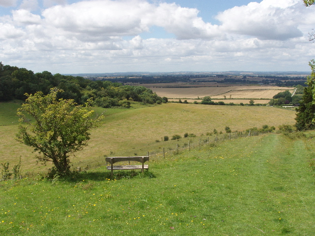 View from Chilterns scarp over Icknield Way