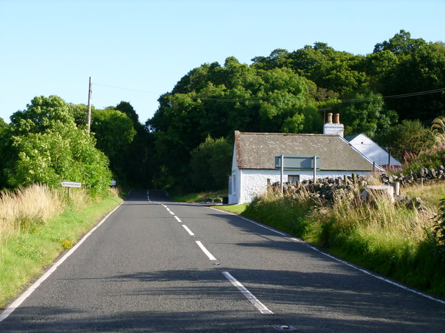 The A714 at Clachaneasy