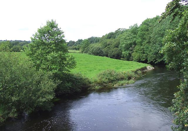 The Afon Teifi from Pont Llanio, Ceredigion