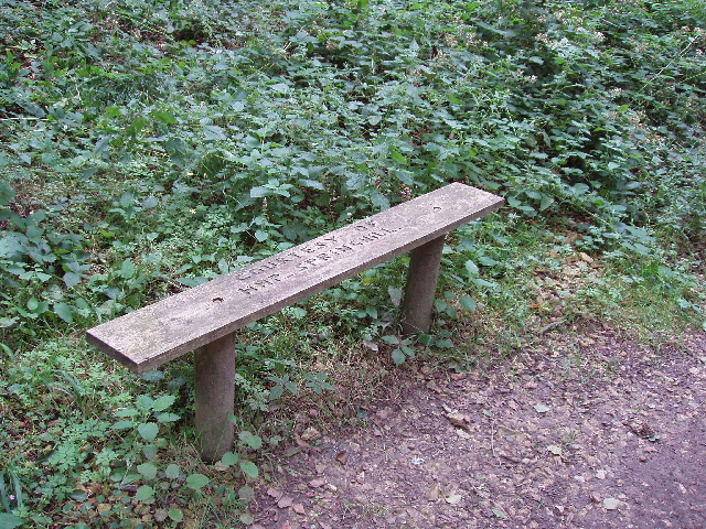"Bench - ""Courtesy of HMP Springhill"""