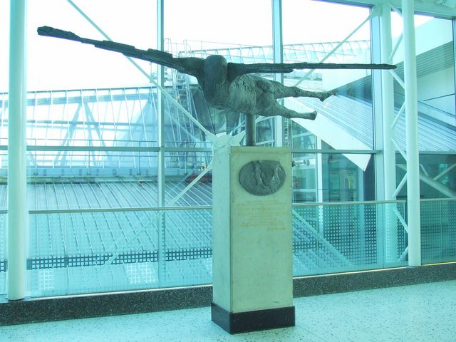 Alcock and Brown commemorative sculpture