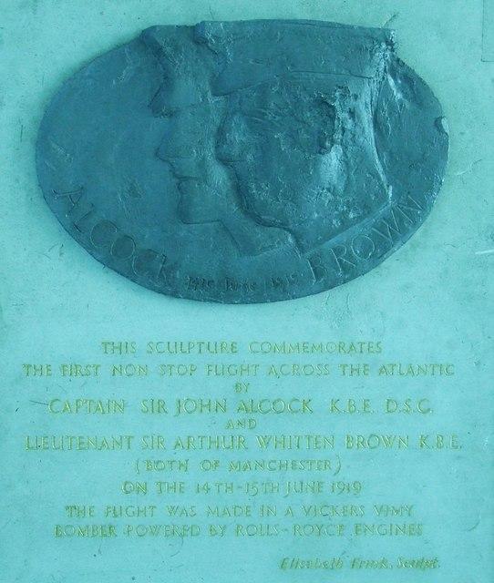 Alcock and Brown inscription