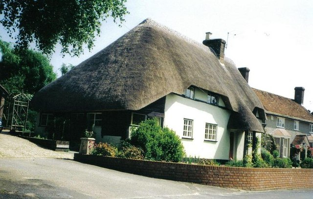 Hinton Martell: a thatched cottage
