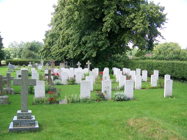 War graves at St Lawrence Church