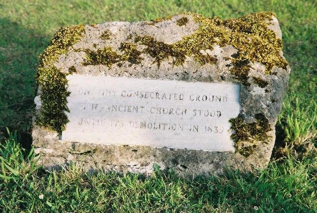 Holdenhurst: plaque on site of old church
