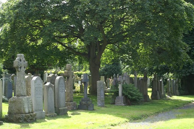 Cemetery on Queensferry Road at the top of Orchard Brae