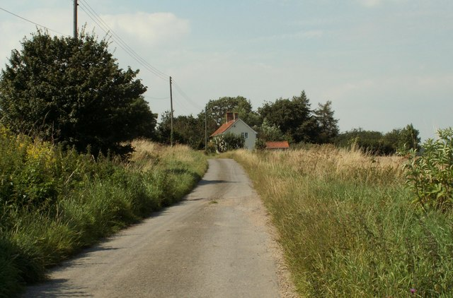 Bridleway to North Green from Great Glemham
