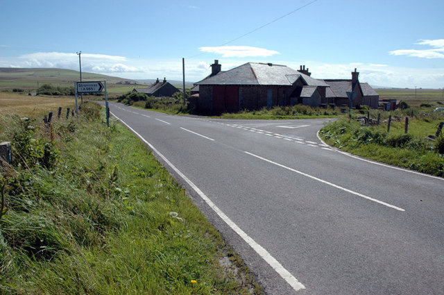 Junction of Stromness road with Birsay-Dounby road