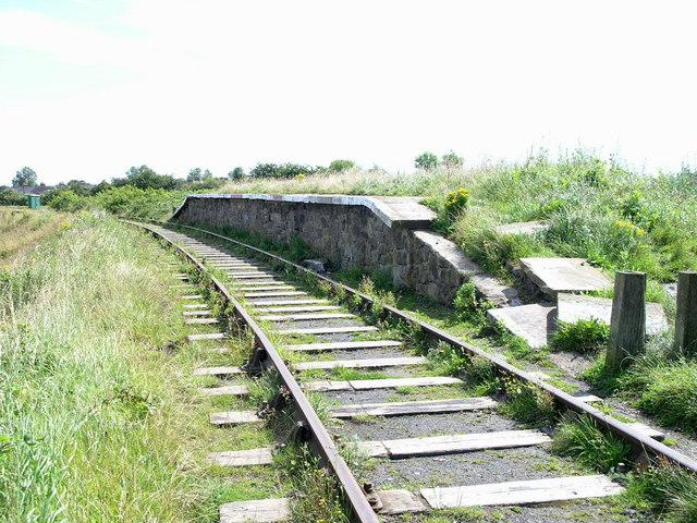 Platform. Bowes Railway
