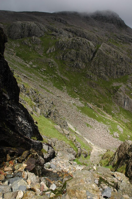 Path ascending Scafell